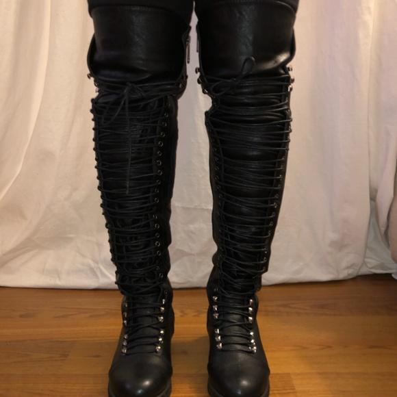 Thigh High Military Boots